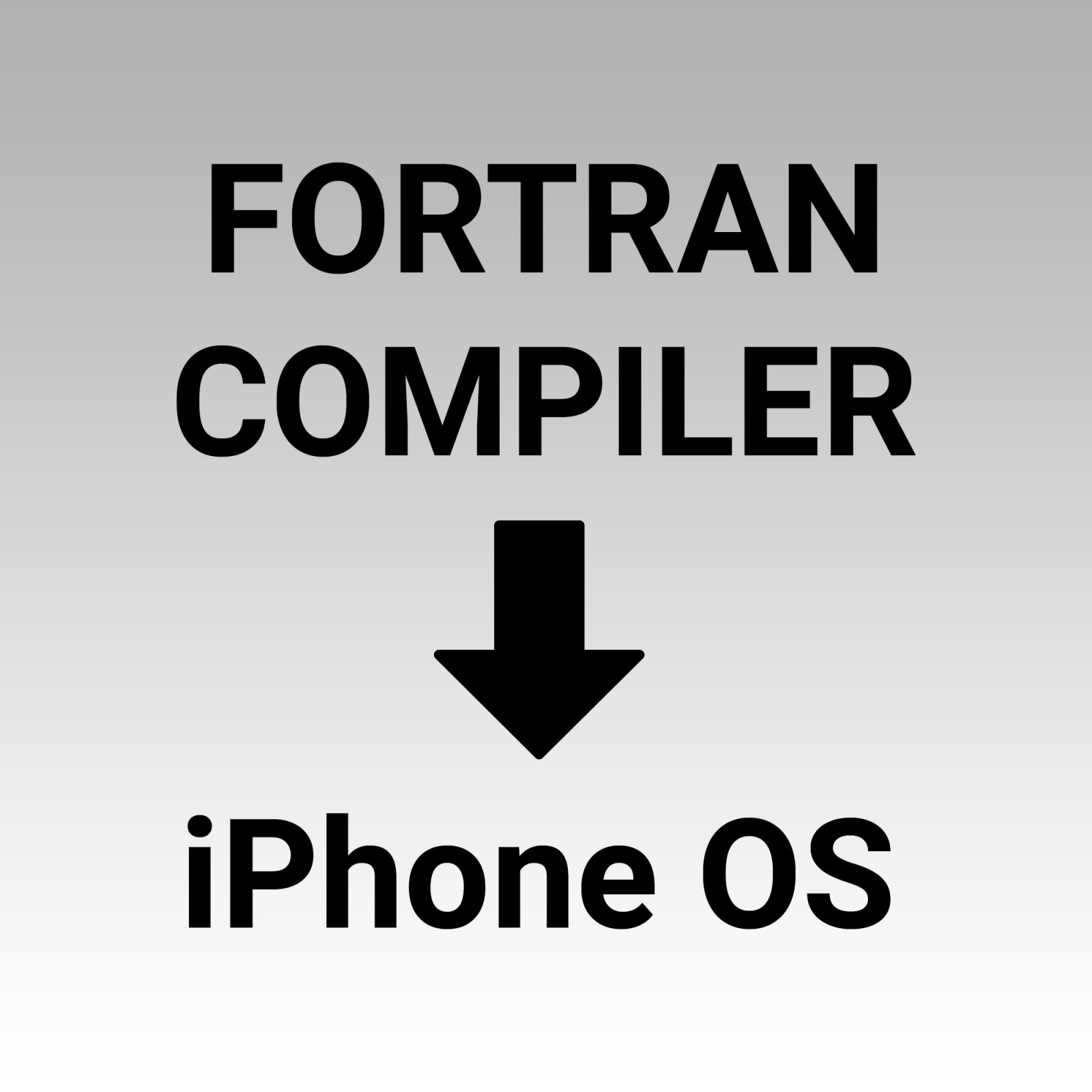 FORTRAN to iPhone OS